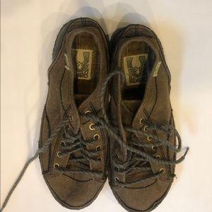 Simple Green Toe Hemp Lace Up Vintage Shoes Sz M11